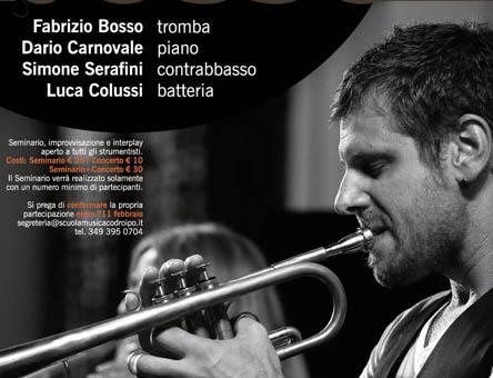 Seminario Fabrizio Bosso<br>Scuola di Musica città di Codroipo