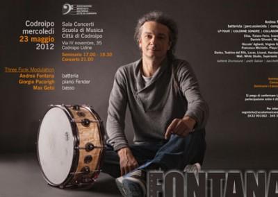 Locandina seminarioAndrea FontanaScuola di Musica Città di Codroipo