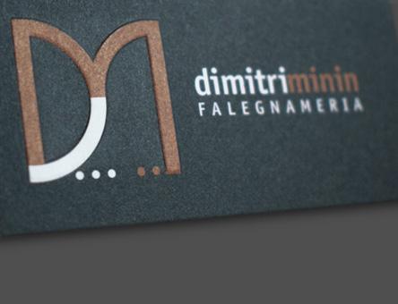 dimitri minin falegnameria: logo, biglietto da visita