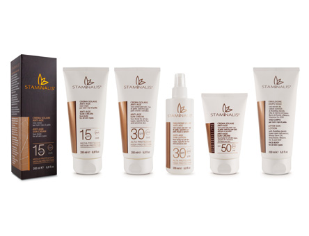 packaging: staminalis linea solare anti-age, Glass Onion, Milano