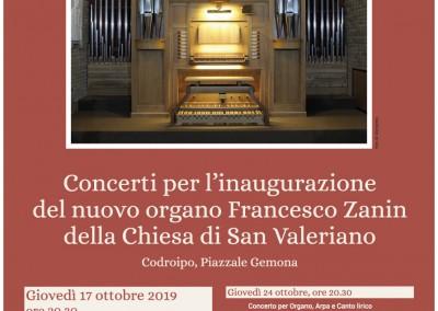 Locandina Inaugurazione concerti corgano
